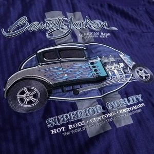 Barrett-Jackson Embroidered Hot Rod Button Up Top